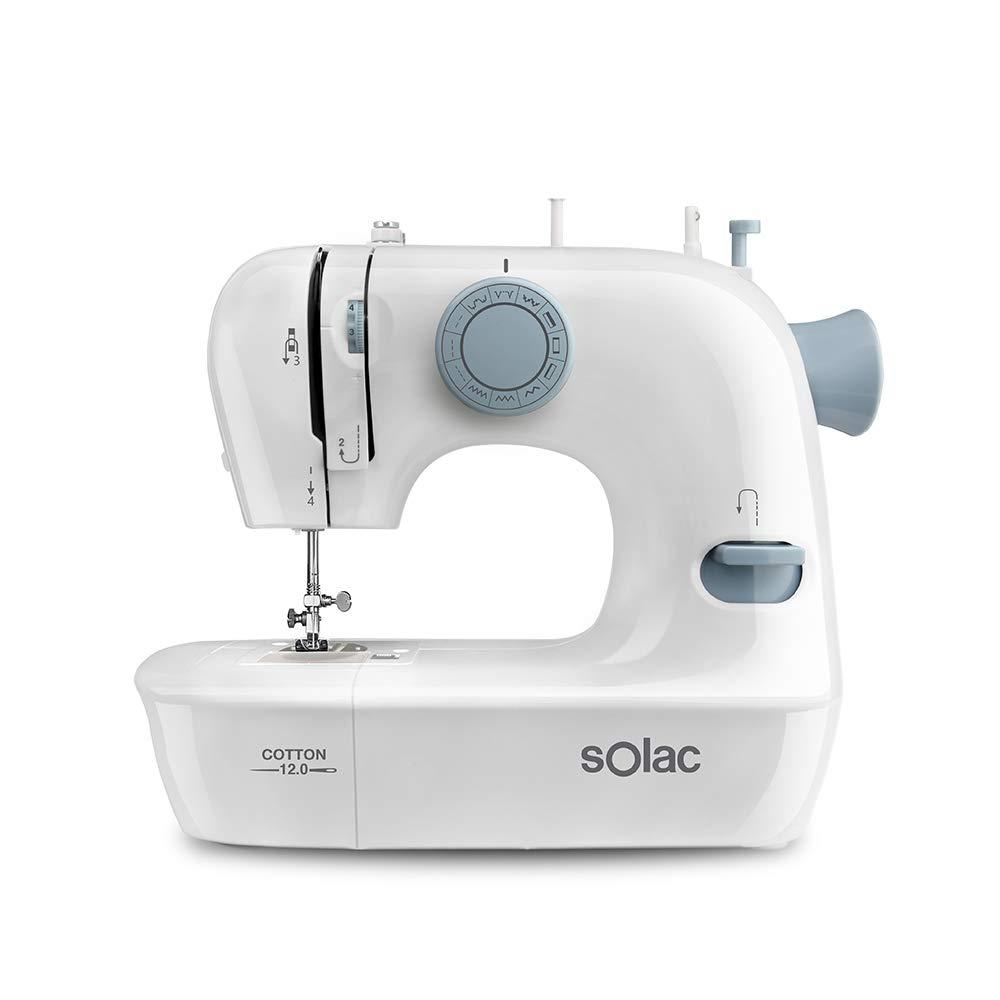Solac SW8220 Cotton 12 M/áquina de Coser mec/ánica