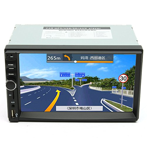7 Inch Touch Screen 2 Din Car 1080P Radio Auto FM Aux/AUX/SD/MP5 Bluetooth And Camera by US Tech