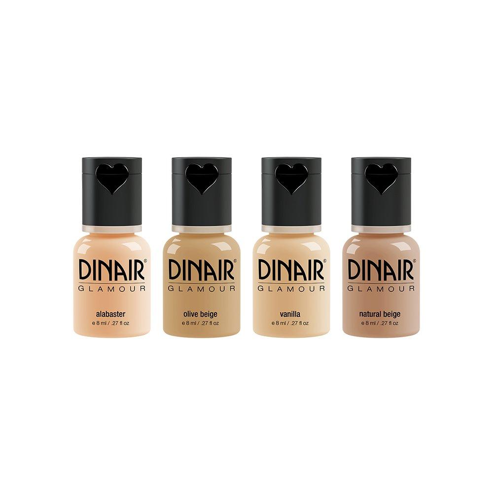 Dinair Airbrush Makeup Foundation | Fair Shades | GLAMOUR: Natural, Light coverage, Matte