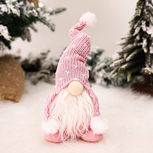 Clacce Noël GNOME Santa en Peluche Poupée, Noël Suédois Fait à la Main Elf Ornements en Peluche Décoration d'arbre De Noël Décor À La Maison Poupées
