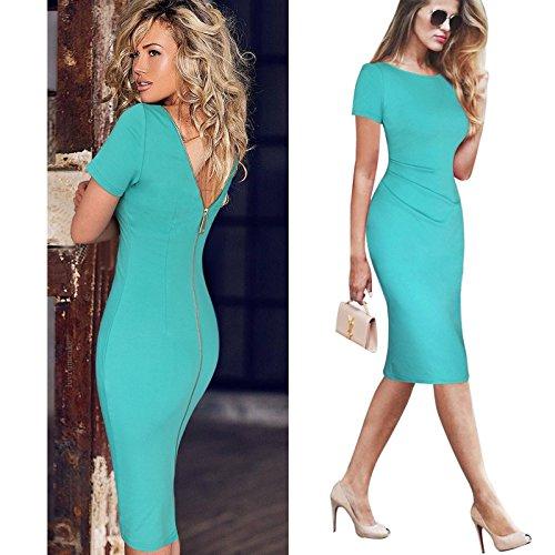 2013-Elegant-Ladies-V-Neck-Fashion-Celebrity-Pencil-DressWomen-Wear-to-Work-Slim-Knee-Length-Pocket-Party-Bodycon-Dress-XS-XXL