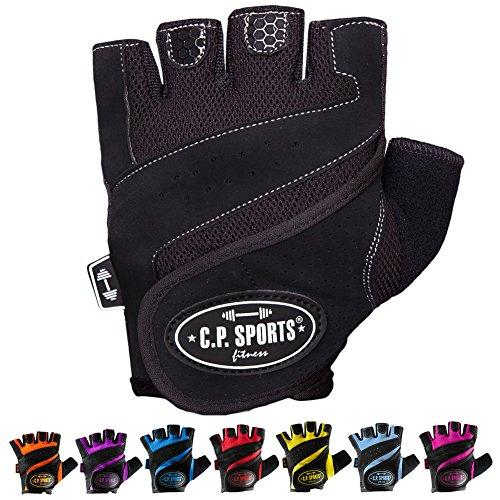 Gym guantes de fitness, entrenamiento Guantes para bodybuilding Guante C.P. Sports - amarillo
