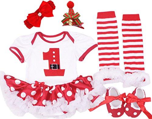 9 12 month santa dress - 4