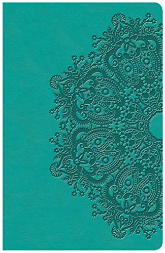 KJV Large Print Personal Size Reference Bible, Teal Leathertouch Indexed