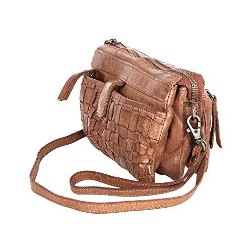 en Bear CL32663 sac bandoulière Design Noisette lavée tressé à cuir WZwWA