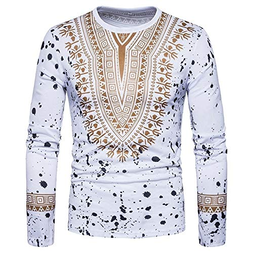 Boat 101 Mens Tops spring long sleeve T-shirt 3D print shirt pullover classical National wind floral 3D Print Casual T-Shirt
