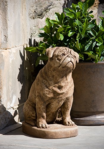 Campania International A-374-BR Mugsy Statue, Brown Stone Finish