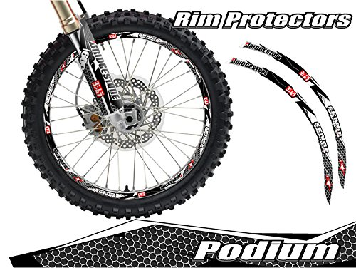 (Senge Graphics Podium White rim protector set for one 14 inch rim and one 17 inch rim)