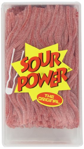 Tub Sour (Sour Power Straws, Strawberry (200-Count Straws), 49.4-Ounce Tub)