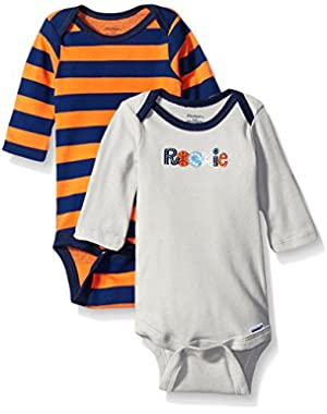 Gerber Baby-boys  2 Pack Long Sleeve Onesies Brand One Piece Underwear Sports