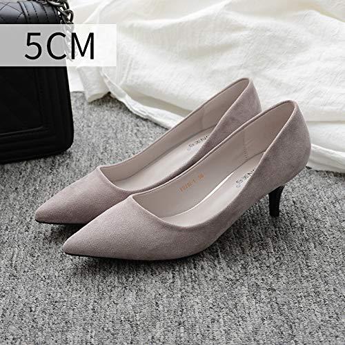 Negro Gray Calzado Punta Zapatos Con Mujer A Talla Código Hoesczs Alto Purple De Para En Fino Tacón qTpnPZ