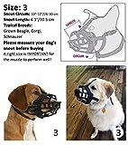 Dog Muzzle,Soft Basket Silicone Muzzles for