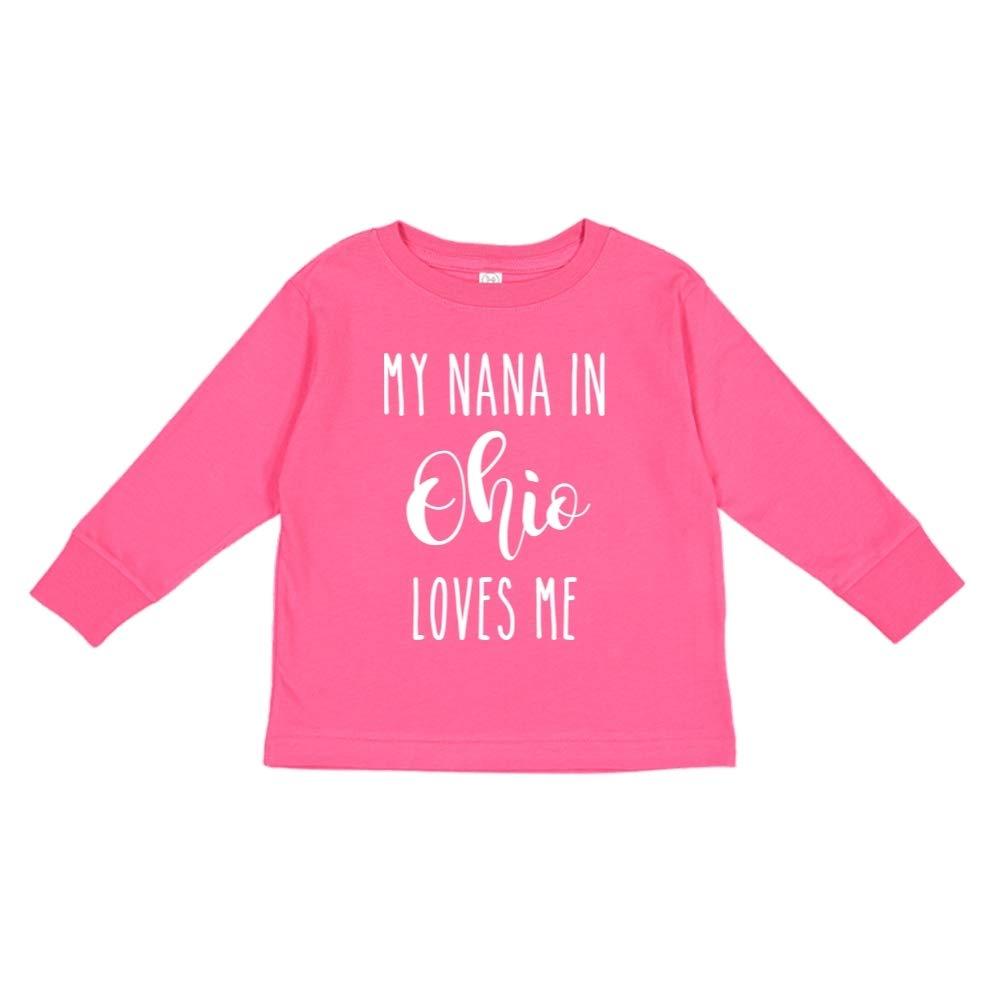 My Nana in Ohio Loves Me Toddler//Kids Long Sleeve T-Shirt
