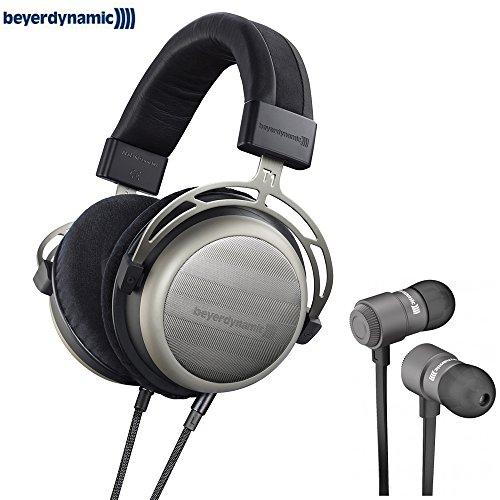 BeyerDynamic 718998 T1 Second Generation Audiophile Stereo Headphone with BeyerDynamic Byron Bluetooth Wireless In-Ear Headset for Mobile ()