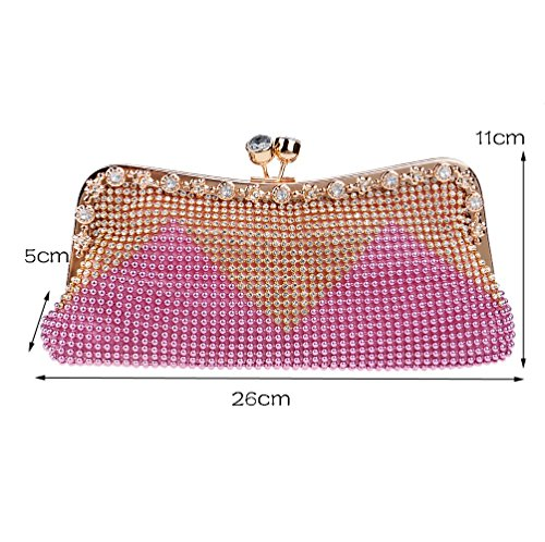 Pink Joker Diamond Women's Fashion New Clutch Bag Dinner SHISHANG ZYXCC Bag 6qwtxvIR