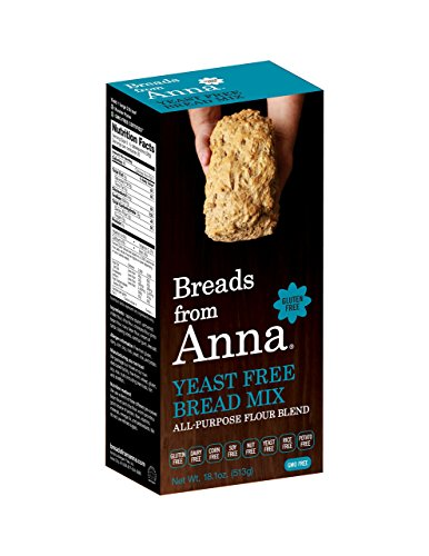 Breads from Anna, Yeast Free Bread Mix, Gluten yeast soy rice corn dairy and nut free, 18.1 -