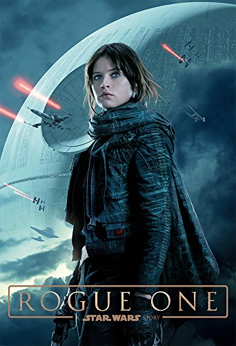 Rogue One (2016) - Jyn Erso - 13 in x 19 in Movie Poster Flyer BORDERLESS + Free 1 Tile Magnet