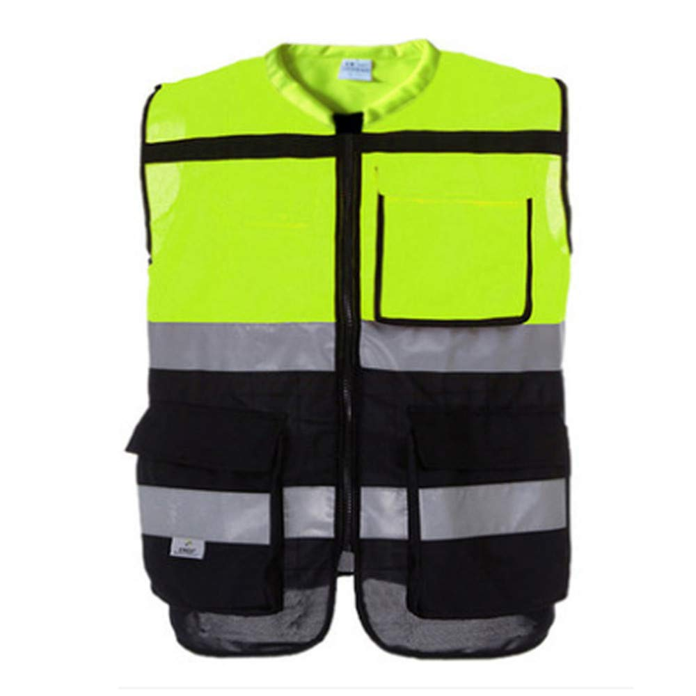Reflective Safety Jacket No Sleeve for Work Outdoor Activity (Color : Green, Size : L) by Lizilan (Image #5)