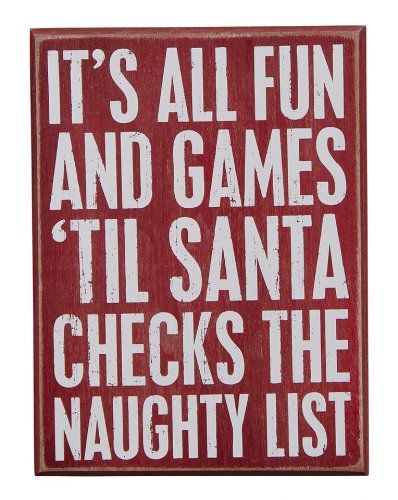 It's All Fun and Games Sign - Farmhouse Christmas Signs