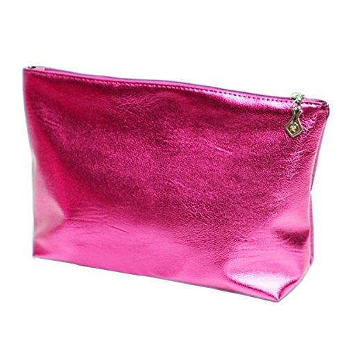 Bags Semi PVC Handbag 2PCS Tote Lady Pink Beach Women Shoulder Transparent Candy Girl Stripe Cosmetic Color clear Travel Bag Pink PYp0qPw