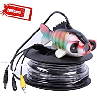 Vanxse Underwater Fish Camera HD Sony CCD 800TVL 2pcs Array White LED 100 Degree view Fish Finder video Camera (20Meters Cable)