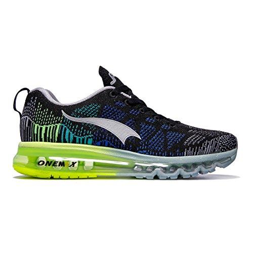 Sportive Running Nero da Grigio Uomo Scarpe Air Sneaker Ginnastica ONEMIX Basse Verde qn0FzYO1w