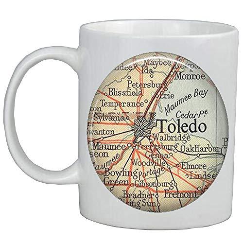 Fashion Coffee Mug,Toledo,Ohio map Mug,Toledo map Mug Toledo