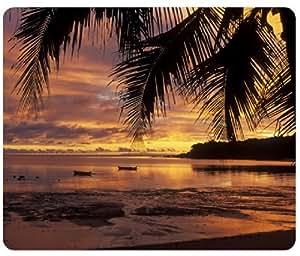 Beach-Sunset-Nature Mouse Pad,Customized Rectangular Mousepad by runtopwell