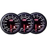 オートゲージ AUTOGAUGE 水温計 油温計 油圧計 3点セットC 3連メーター SM60シリーズ 60mm 60Φ スモークレンズ