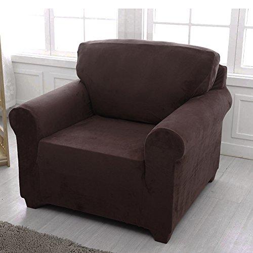 Sofabezug /Sofaschoner, elastischer Stoff, schokoladenbraun, 1 seater:91-140cm