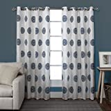 Exclusive Home Curtains Sedgewick Linen Grommet Top Window Curtain Panel Pair, Teal, 54×84