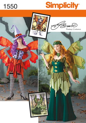 Simplicity Creative Patterns 1550 Misses' Amy Brown Fairy Costume, R5 (14-16-18-20-22) (Amy Brown Fairy Costume)
