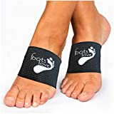 Foots Love ❤ Compression Copper Plantar Fasciitis Arch Support Brace. Planters Foot Walk Fit Orthotic Support for Shoes. Stops Flat Feet, Heel Spurs and High Arch Pain Guaranteed (Black)