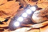 UChic 2PCS Light Under Brim Hat Cap 5LED Bright Super Light Clip Headlamp Light For Hunting Fishing Hiking Outdoor Lamp Night Outdoor Night Lighting Tools Activities Accessories Supplies
