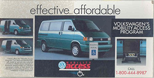 1987 Volkswagen Wheelchair Access Van Bus Dealer Showroom Standup Card