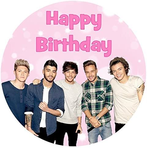 Fantastic One Direction Happy Birthday Cake Topper Edible Sugar Icing 7 5 Personalised Birthday Cards Paralily Jamesorg