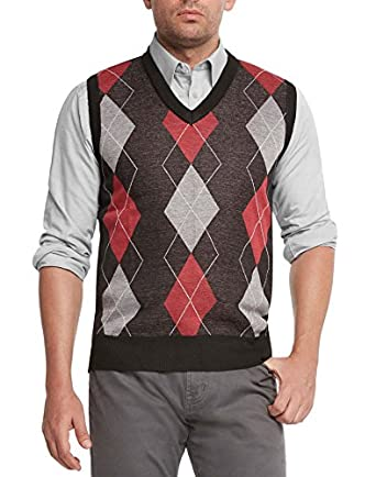 True Rock Men's Argyle V-Neck Sweater Vest at Amazon Men's ...