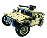 Bo Toys R/C Military SUV Building Bricks Radio Control Toy, 502 Pcs off road car Kit with USB Rechargeable Battery, Construction Build It Yourself Toys