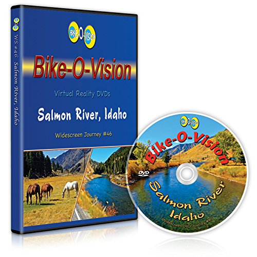 Bike-O-Vision - Virtual Cycling Adventure - Salmon River, Idaho - Perfect for Indoor Cycling and Treadmill Workouts - Cardio Fitness Scenery Video (Widescreen DVD -