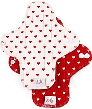Moon Pads Midi – protege-slip bio lavable de algodón Juego de 2 Hearts: Amazon.es: Salud y cuidado personal