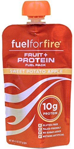 Fuel For Fire, Fruit + Whey Protein Snack, Sports Nutrition 4.5 ounce (Sweet Potato Apple, 12-Pack)