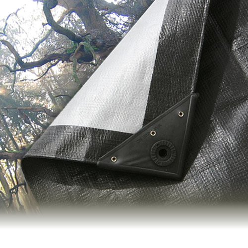 1.2M x 1.8M BLACK/SILVER HEAVY WATERPROOF TARPAULIN SHEET TARP COVER WITH EYELET Gardener's Dream Ltd