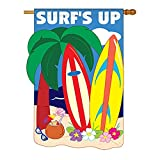 Surf's up Flag Indoor/outdoor 28″ X 44″ For Sale