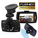 "TSGWorld 2.4"" Car DVR 170° Wide Angle Lens Dash Camera Full HD 1080P, BONUS - 16GB Memory Card & SD Adapter INCLUDED"