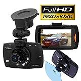 "TSGWorld 2.4"" Car DVR 170° Wide Angle Lens Dash Camera Full HD 1080P, BONUS - 16GB Memory Card & SD Adapter INCLUDED"