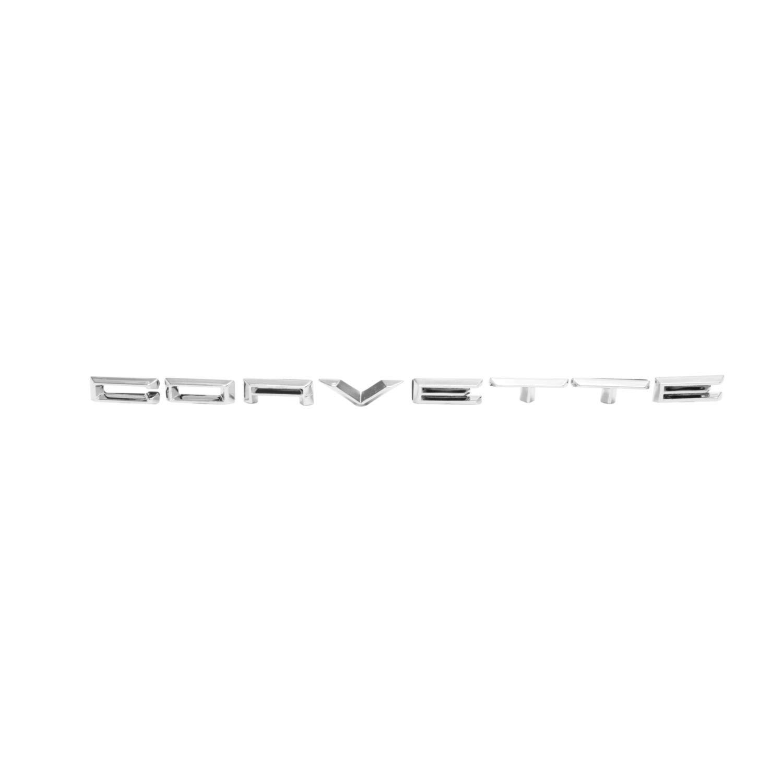 """Trim Parts 5096 Front Letter 1961-1962 Corvette /""""Corvette /"""", without Studs"""