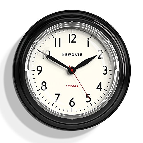 Newgate Cookhouse Kettle Wall Clock Black