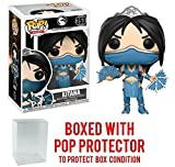Funko Pop! Games: Mortal Kombat - Kitana Vinyl Figure (Bundled with Pop BOX PROTECTOR CASE)
