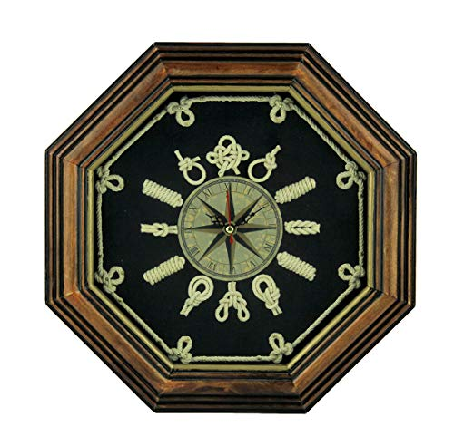 Moby Dick Specialties Wood Frame Nautical Knotboard Compass Rose Wall -