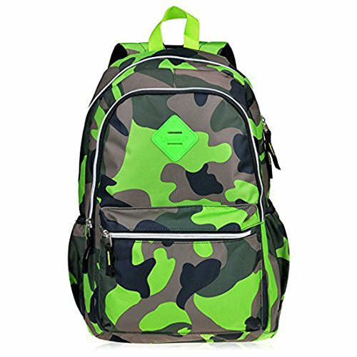 School Green - Neonr New School Bags Backpack Fashion Bookbag for Kids Middle School Shoulder Bag for Girls and Boys (Camouflage Green)